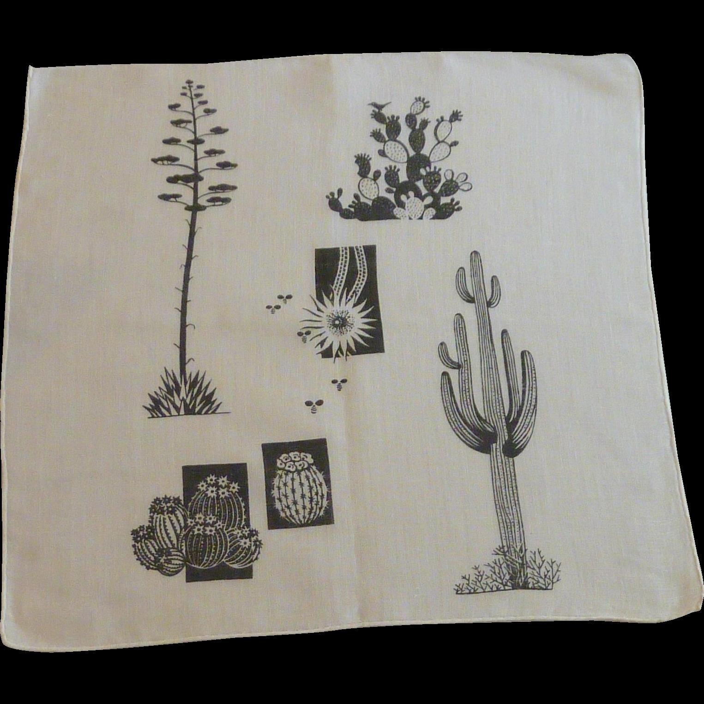 Cactus Cacti Plant Handkerchief Hanky