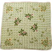 Billie Kompa Signed Pear Theme Handkerchief Hanky