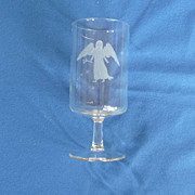 Etched Virgo the Virgin Angel Zodiac Drinking Glass