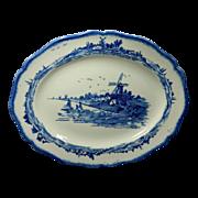 Norfolk Blue Pattern Oval Serving Platter Royal Doulton