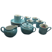 """Victoria"" Czechoslovakia China Small Demitasse Tea Coffee Set"
