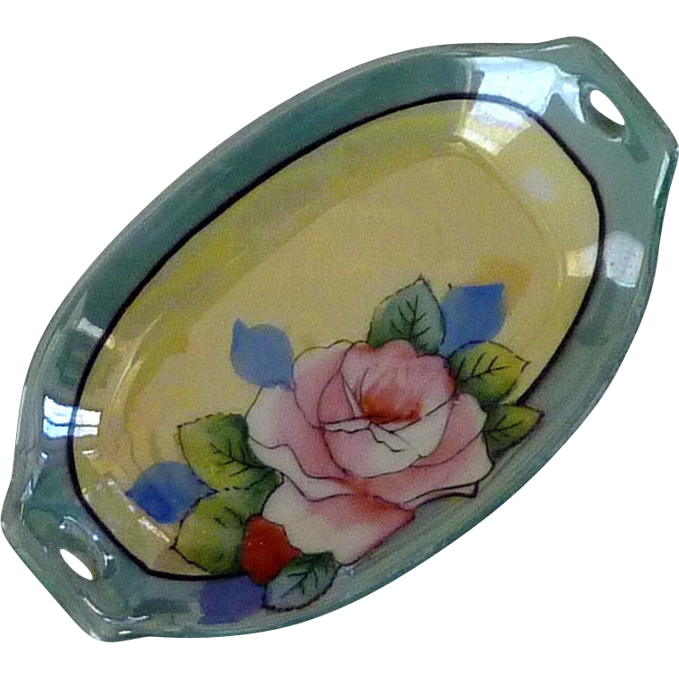 Hand Painted Japan Salt Trinket Dish