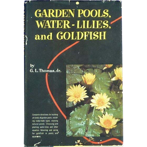 garden pools water lilies and goldfish by thomas book