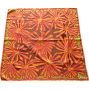 Vera Bright Orange Abstract Sunflower Scarf