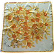 Vera Bright Yellow and Orange Sunflower Scarf