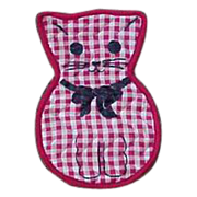 Kitty Cat Kitten Magnet Hot Pad Holder