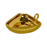 Epiag Czechoslovakia Gold Triangle Nut / Mint Dish Bowl