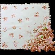 Pink Autumn Leaves Handkerchief