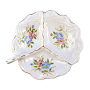 Small Divided Flower Trinket Dish