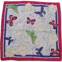 Shear Butterfly & Rose Scarf