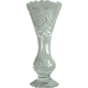 Violetta Etched Crystal Clear Flower Vase