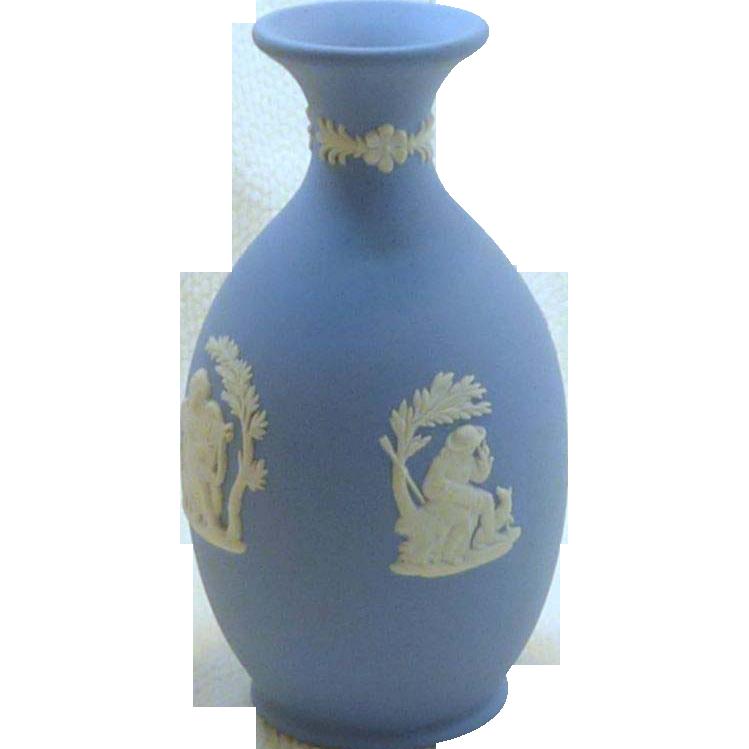 Blue Wedgwood Small Urn Vase
