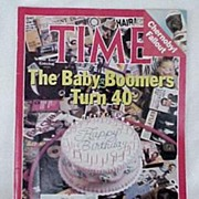 Time Magazine Baby Boomers Turn 40  May 19 1986