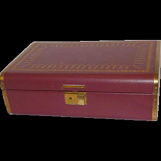 Farrington Mid Century Jewelry Box with Key