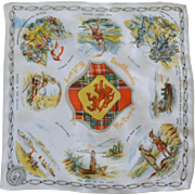 Scotland Picture History Silk Handkerchief