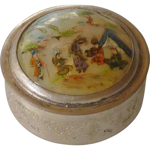 Persian Minitre Trinket Box with Lid