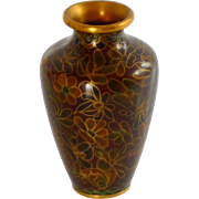 Beautiful Miniature Chinese Asian Cloisonné Vase