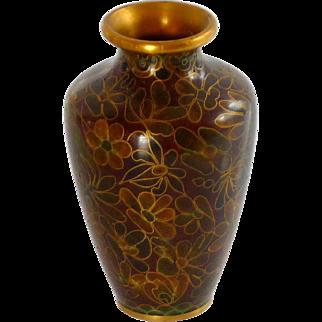 Beautiful Miniature Chinese Asian Cloisonné Vase