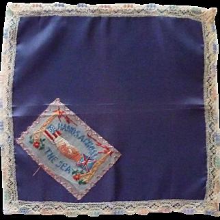 World War II Handkerchief Hands Across the Sea