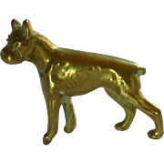 Miniature Brass Boxer Canine Dog