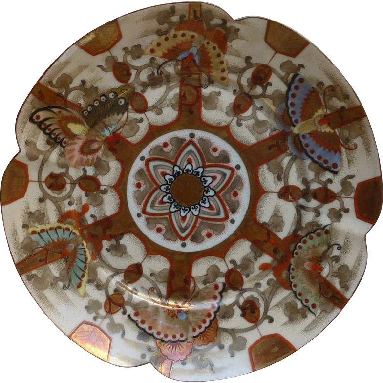Asian Egg Shell Hand Painted Plate Circa 1890's