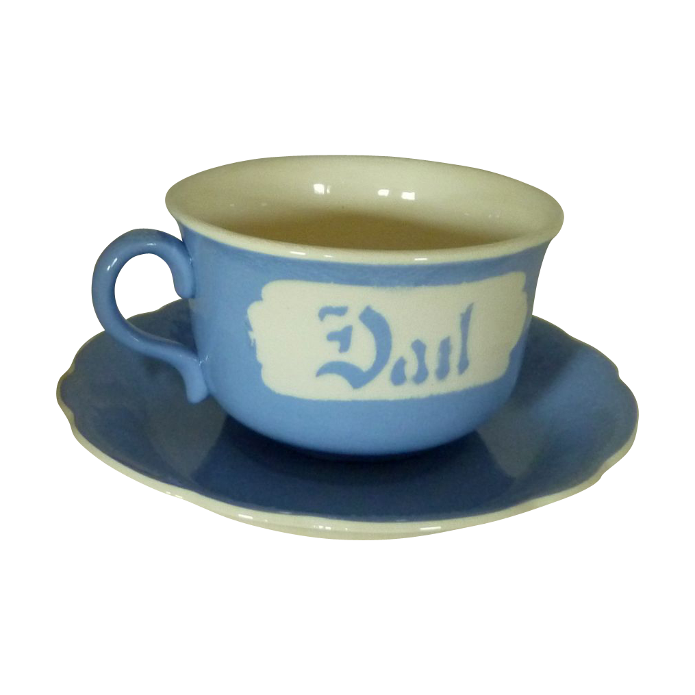 Harker Blue and White Dad Oversized Coffee Cup Planter