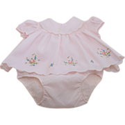 Nannette Pink Baby Dress and Short Bottom  6 -9 months