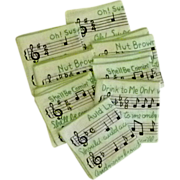 Classic Songs on Cloth Cocktail Napkin Set  of 8