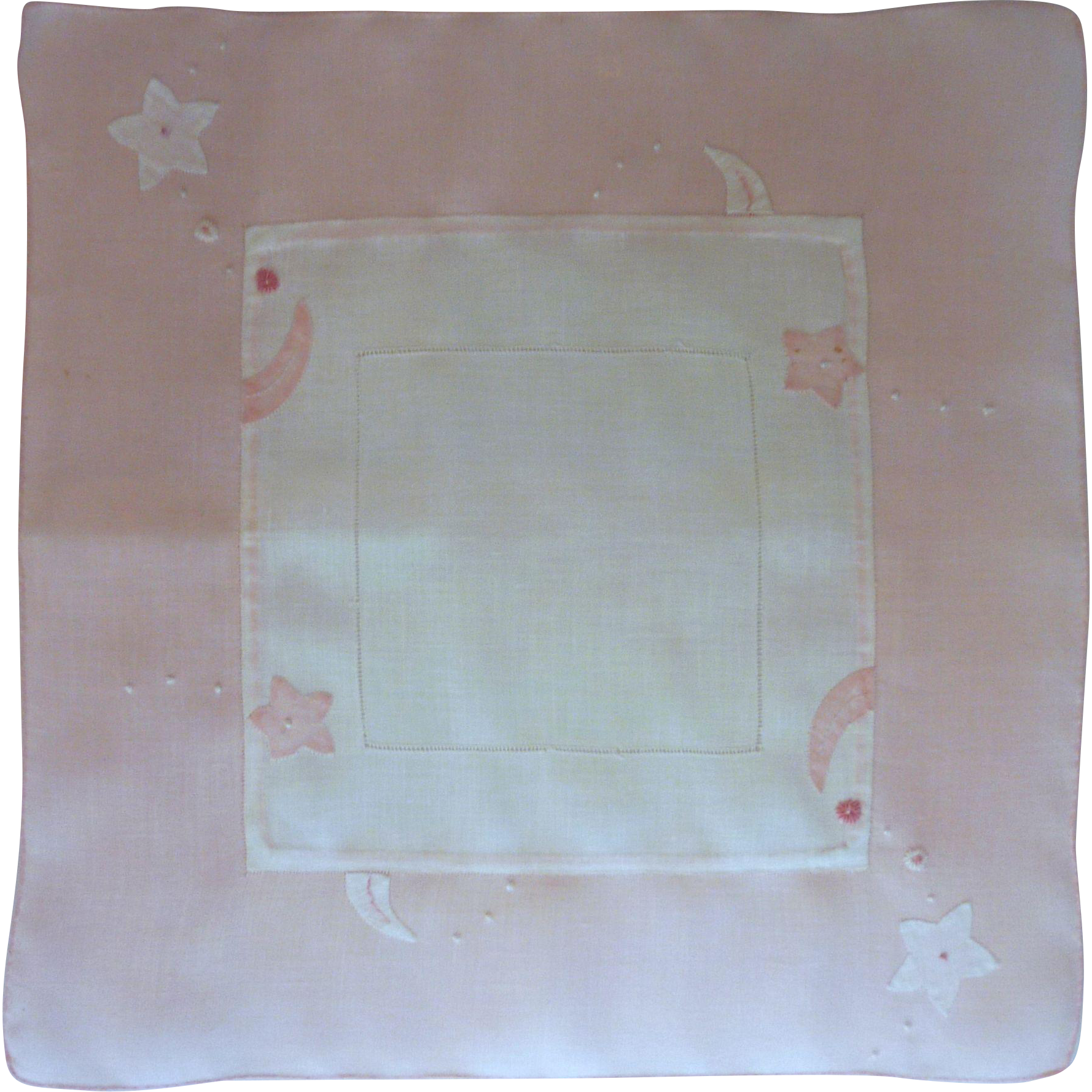 Pink and White Linen Handkerchief Hanky