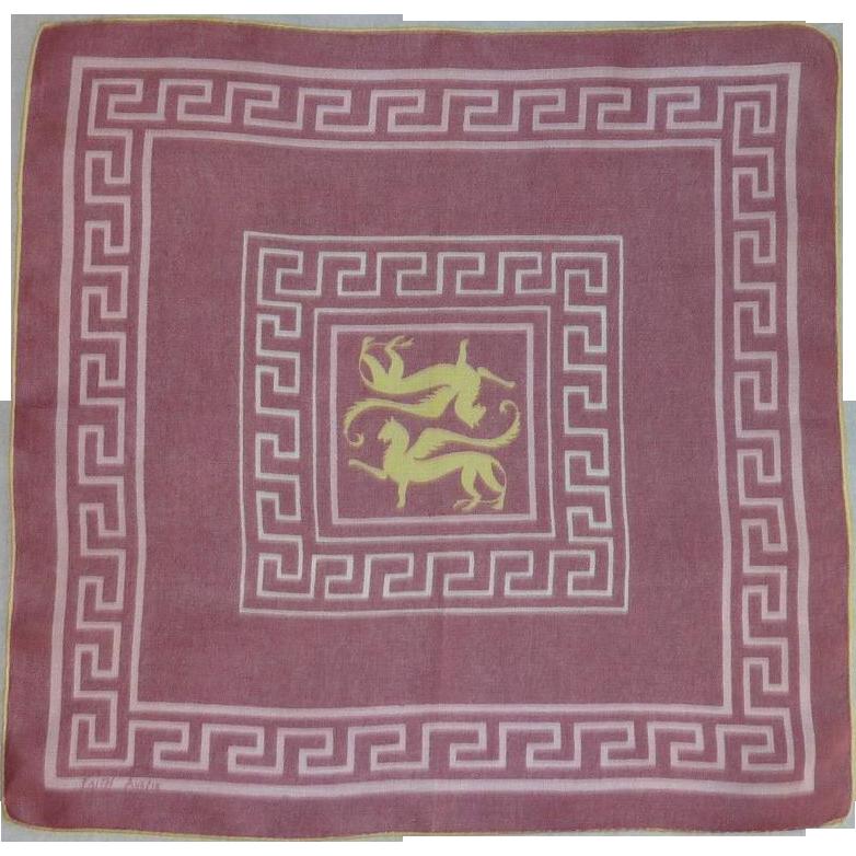 Faith Austin  Designer Mauve Pink Handkerchief Hanky