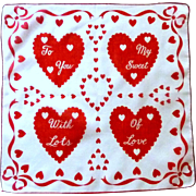 Valentine Handkerchief for your Special Girl