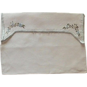 Linen Handkerchief White Envelope Bag
