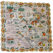 Scalloped California State Handkerchief Hankie