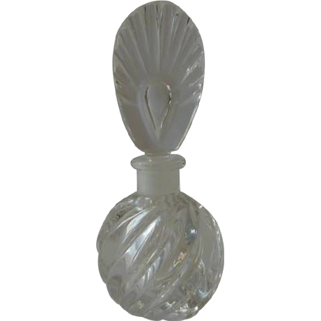 Clear Swirl Glass Perfume Bottle with Stopper
