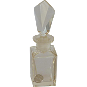 Pasco Clear Glass Czechoslovakian Perfume Bottle 1950's