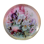 Beautiful Iris Quartet Lena Liu 1991 Limited Edition Plate