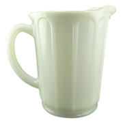 White Vintage Hazel Atlas Milk Glass Juice Pitcher