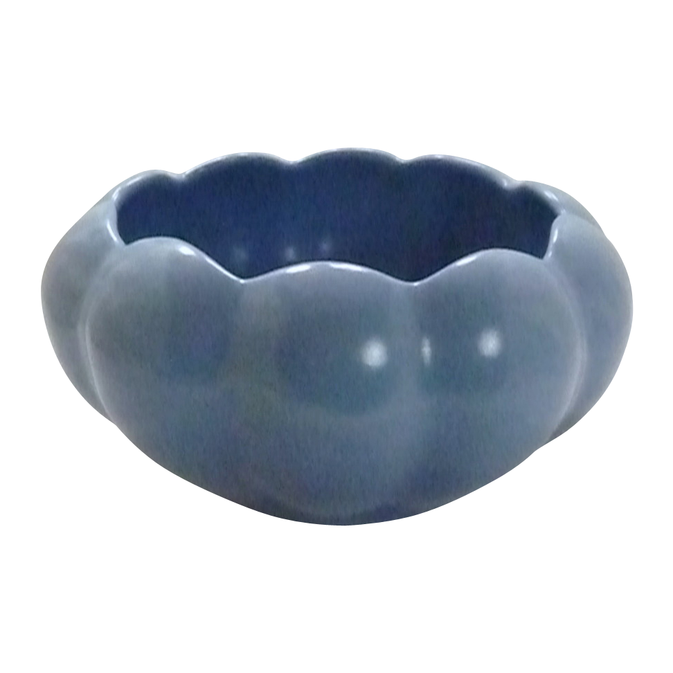 Periwinkle Blue Tulip Pottery Flower Bowl