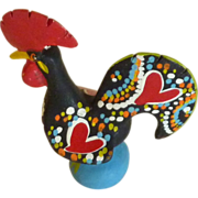 Hand Painted Ceramic Clay Rooster