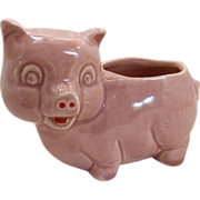 Pink Little Pig Ceramic Planter 1950's