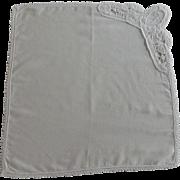 """F"" Initial White Cotton Handkerchief Hanky"