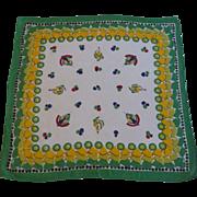 Matador Bullfighter and Spanish Senorita Handkerchief