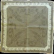 Grey Tammis Keefe  Feather Pen Pal Handkerchief