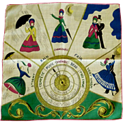 Barometer Novelty Victorian Style Handkerchief Hankie Hanky