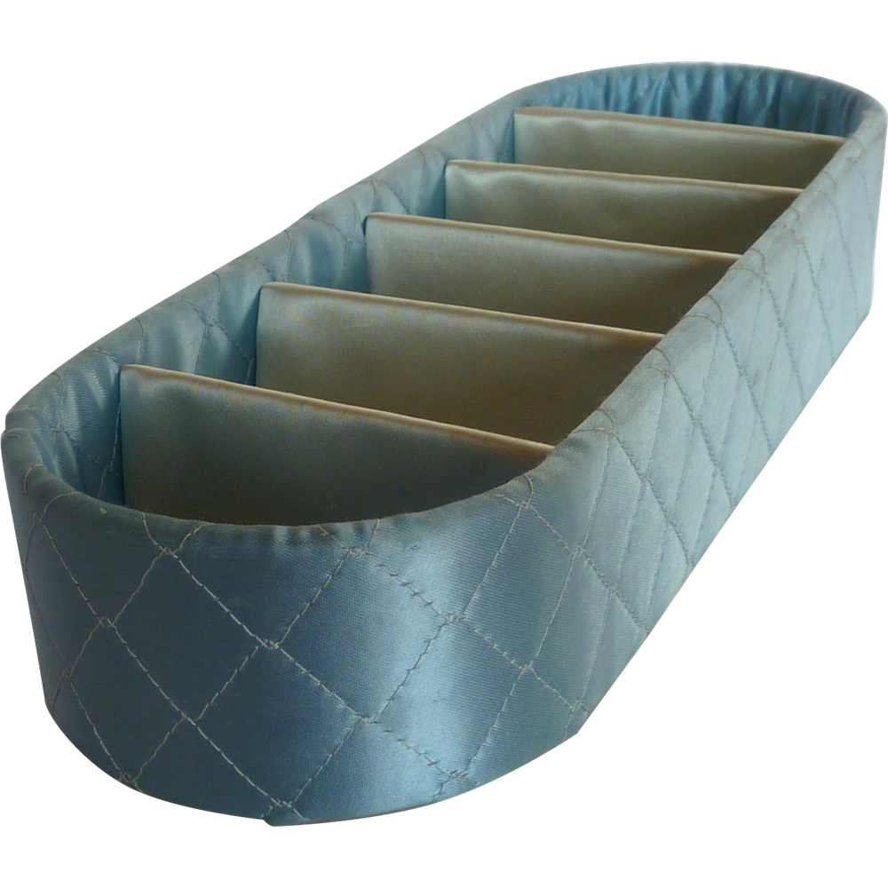 Baby Blue Quilted Fabric Lingerie Drawer Tray