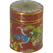 Miniature Cylindrical Cloisonne Box