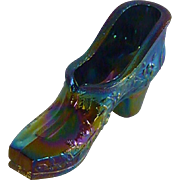 Westmoreland Iridescent  Carnival Glass Shoe