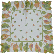 Scalloped Sheer Autumn Leaves Handkerchief
