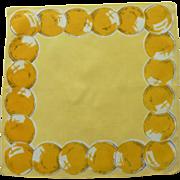 Yellow Balloons  for a Birthday on Yellow Handkerchief Hanky
