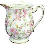 May Medley Bone China Cream Pitcher Creamer